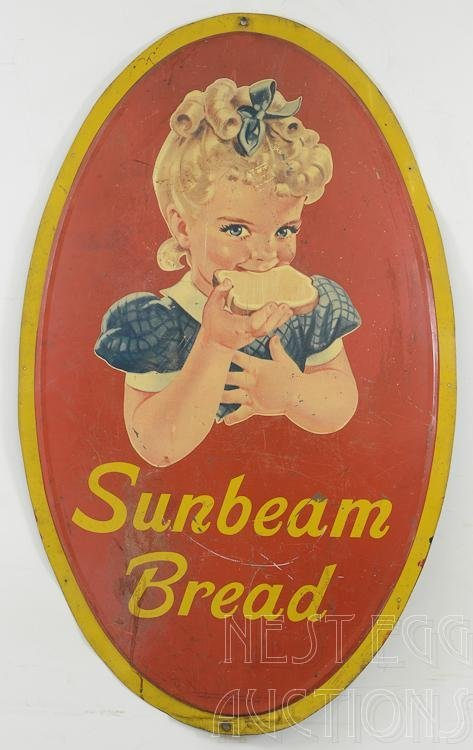 Sunbeam Bread lithograph Advertising Sign