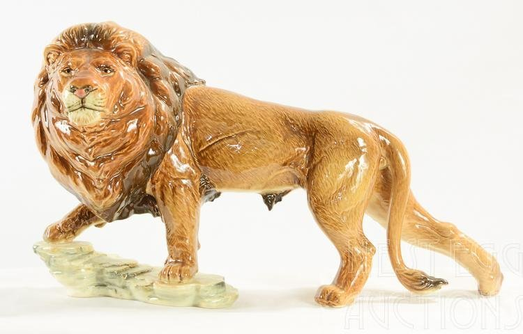 Large Goebel porcelain Lion Figure