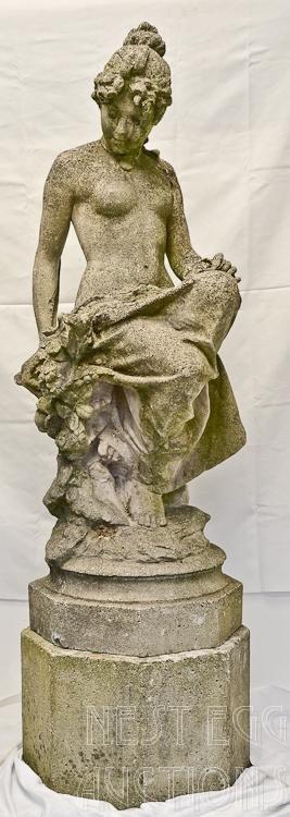 Nude Female Concrete Garden Statuary