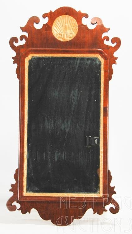 Mahogany Chippendale Mirror with shell carving