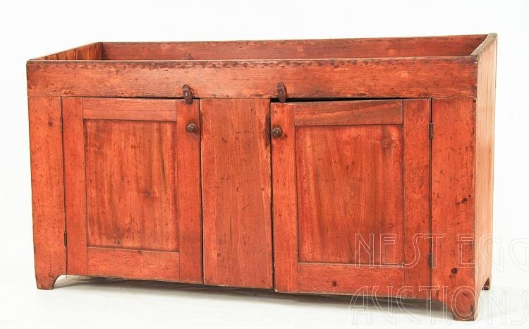 American Primitive Painted Pine Country Dry Sink