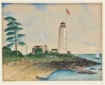 Thomas Royal Waite 1861-1919 Watercolor Signed 1924