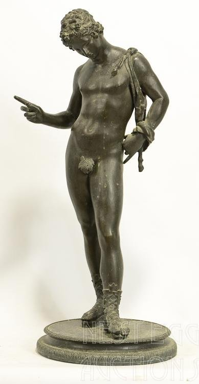Bronze Classical Nude Male Figure