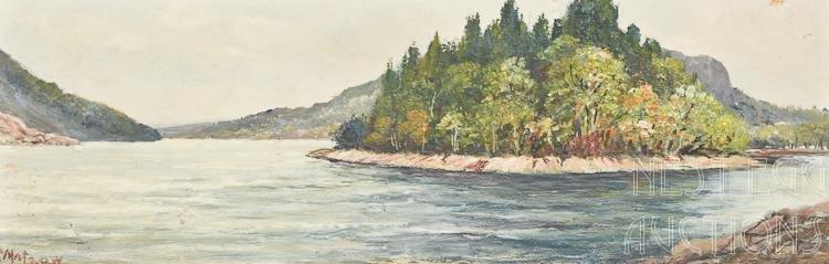 Frederick Matzow 1861-1938 Oil On Board