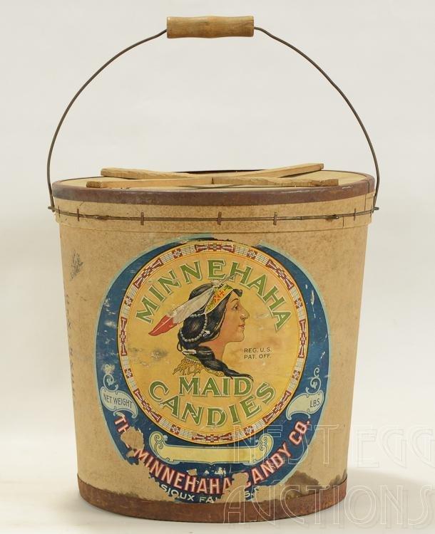 Minehaha Maid Candies Advertising Bucket