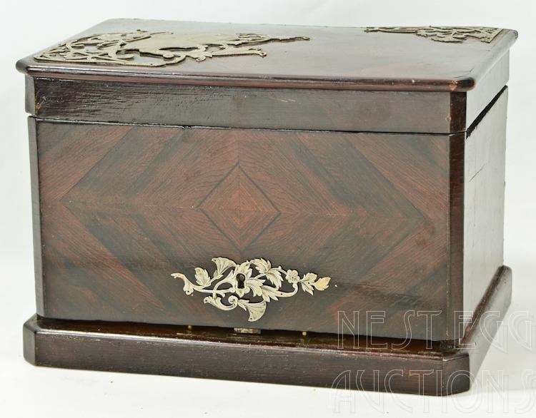 Victorian Cigar Humidor Ormolu Mounts