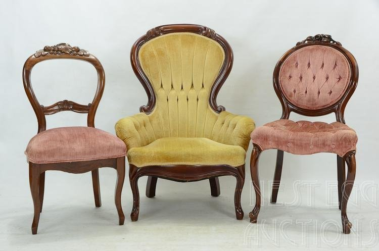 Group Of Three Victorian Style Chairs