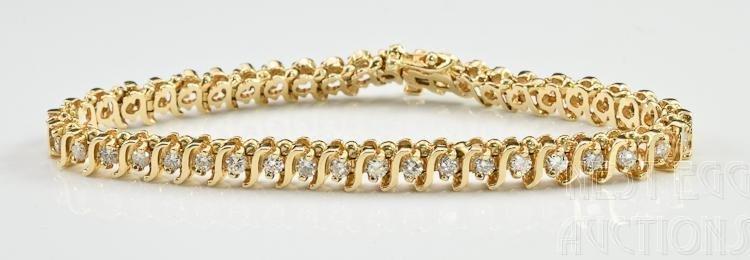 14K Gold & Diamond Tennis Bracelet