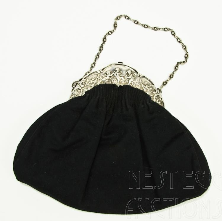 Sterling Silver Gorham Ladies Handbag Clutch Purse