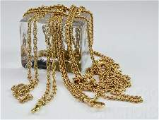 Two 14K Gold Victorian Watch Chains