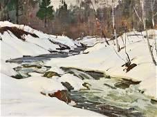 A.T. Hibbard 1886-1972 Vermont Landscape Painting