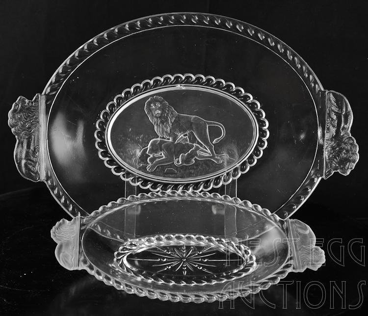 48 Piece Group Of Gillinder Frosted Lion Glass - 8