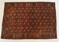Semi-Antique Turkoman Tribal Oriental Carpet