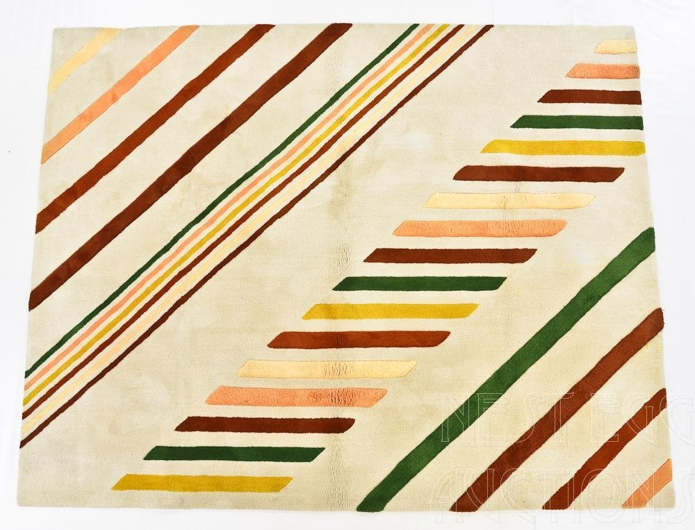 Edward Fields 1970's Custom Wool area rug / Carpet