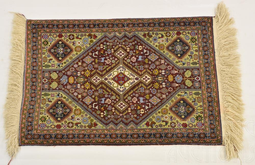 Pictorial Oriental Throw Rug