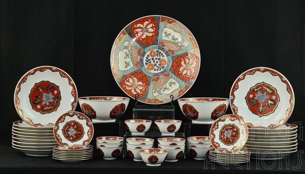 Large Group of Chinese Overjoy Hong Kong Dinnerware