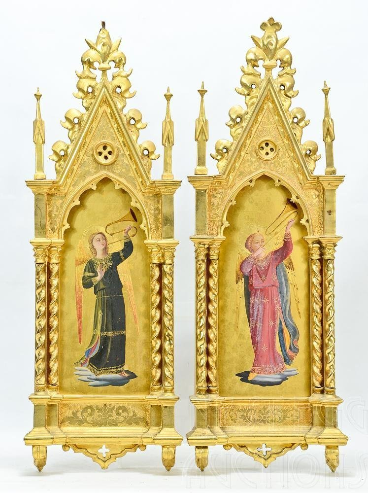 Pair of Italian Renaissance Style Grand Tour Icons