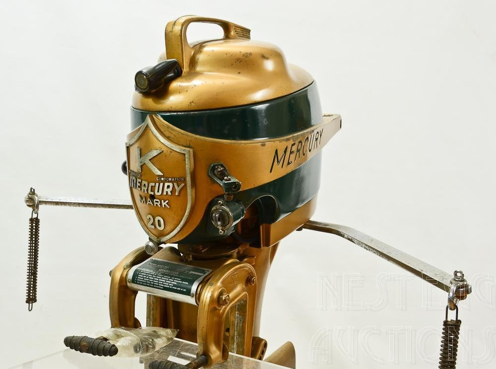 Mercury Mark 20 H 1950's Outboard Racing boat Motor - 4