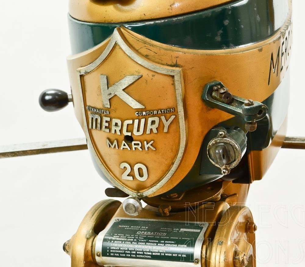 Mercury Mark 20 H 1950's Outboard Racing boat Motor - 5