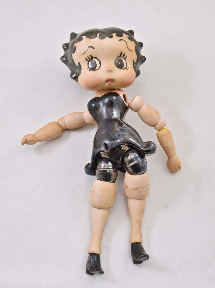 Vintage Betty Boop jointed porcelain doll - 2