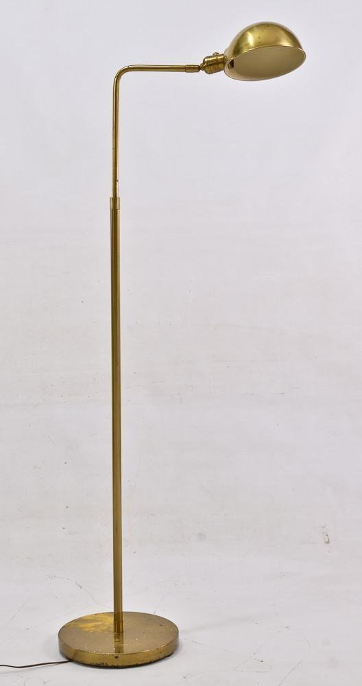 Mid century modern brass telescoping floor lamp