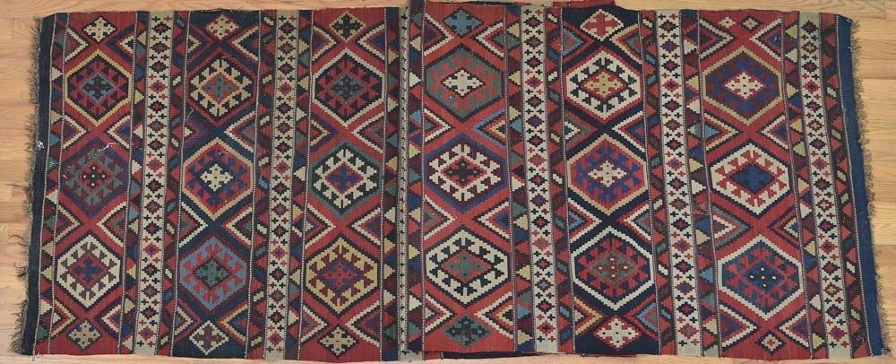 Semi-Antique Kilim Runner rug / carpet