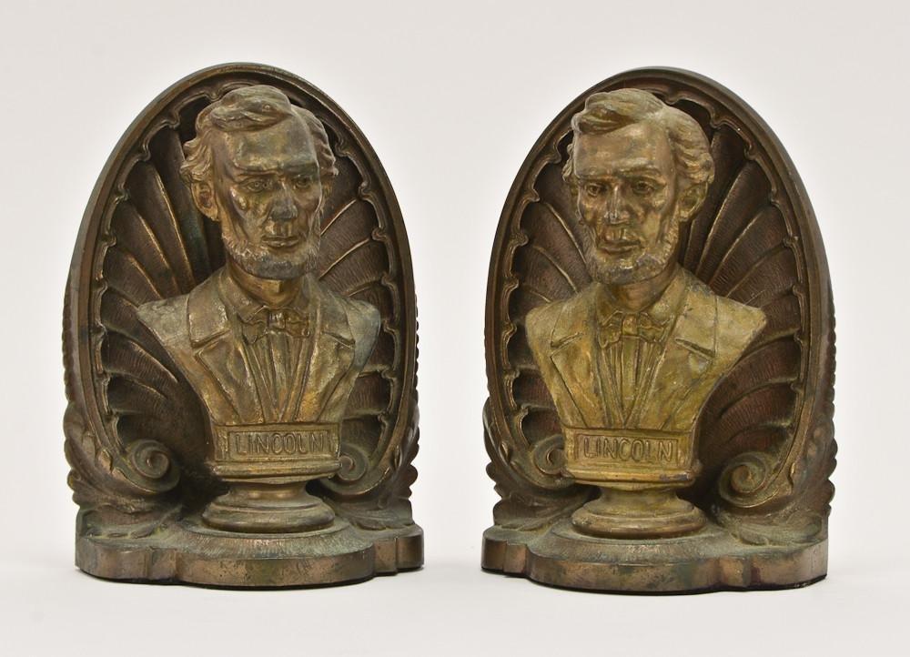 Bradley & Hubbard Abraham Lincoln Bookends