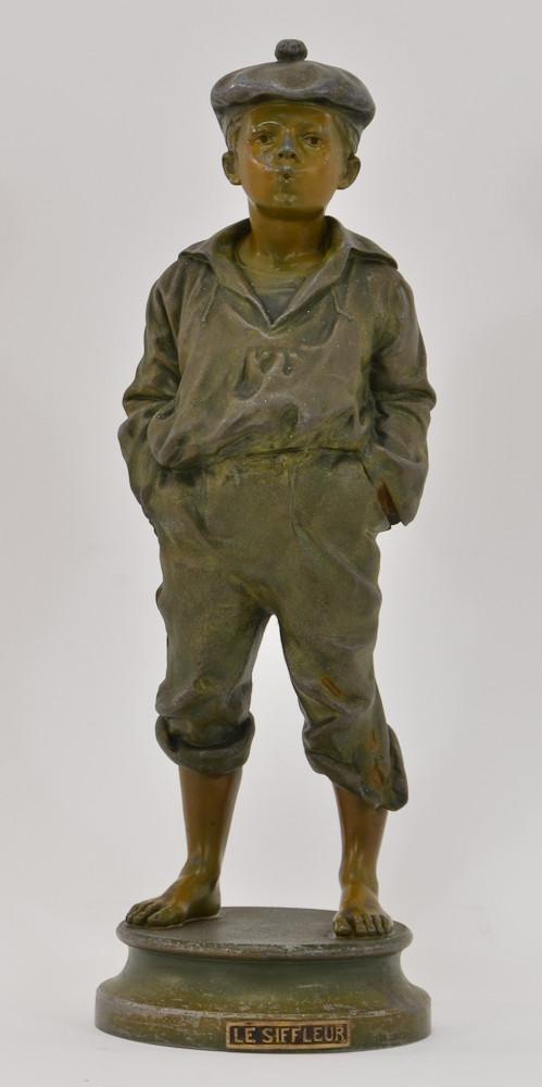 Bradley & Hubbard: Le Siffleur statue
