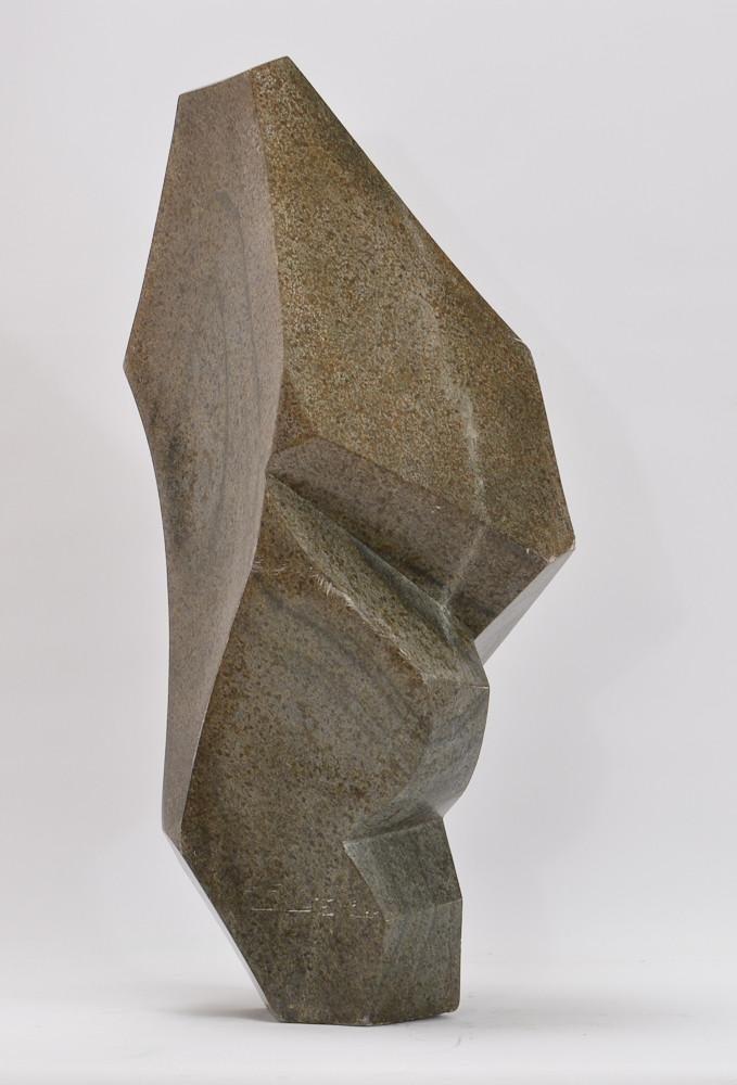 """Brighton Sango """"Freedom"""" Shona Stone Sculpture"""