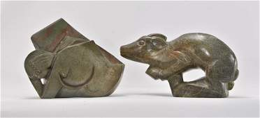 Two African Shona Stone Carved Sculptures