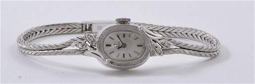 Ladies 14K Diamond Omega Wrist Watch