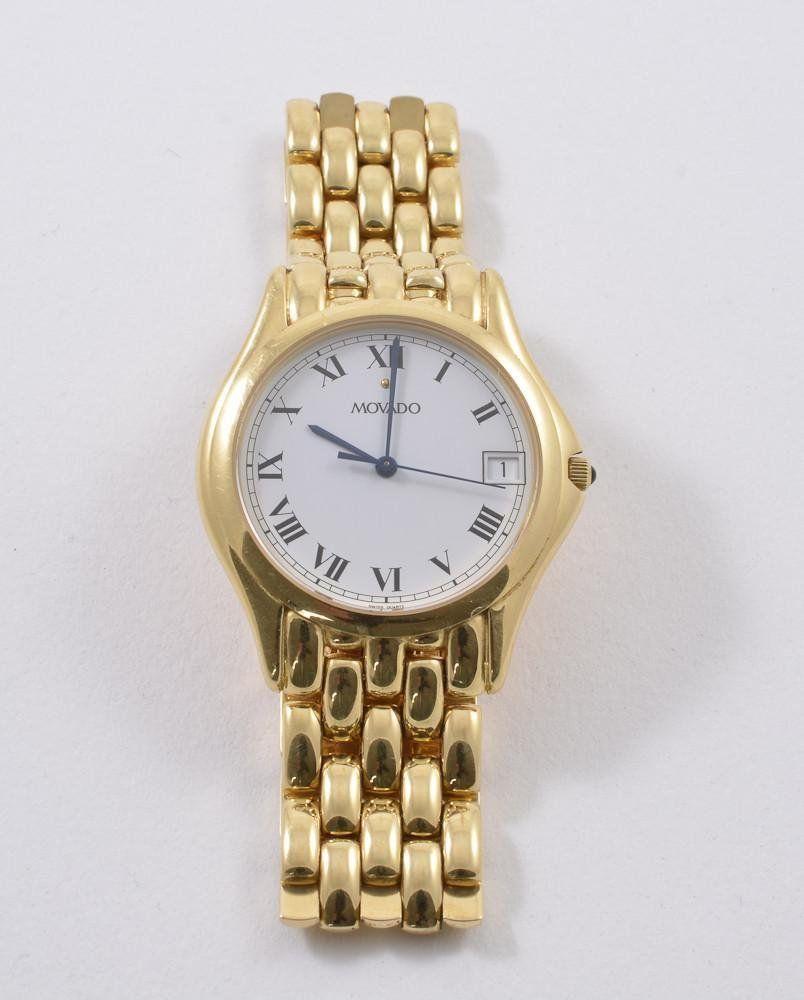 Men's 14K Yellow Gold Movado Wrist Watch