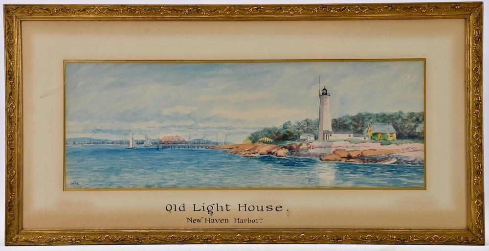 Connecticut watercolor artists directory - Thomas Royal Waite New Haven Ct Watercolor
