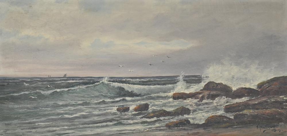 Oil On Canvas Painting Frederick Matzow Handel Artist