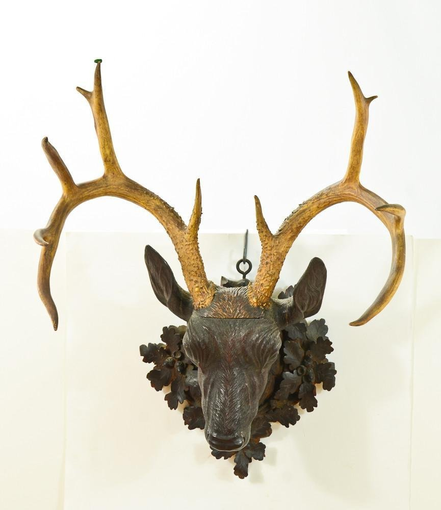 Black Forest Carved Deer Head