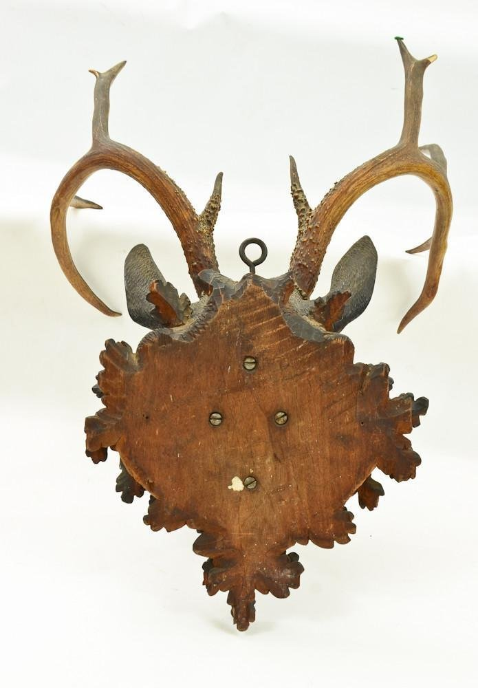 Black Forest Carved Deer Head - 7