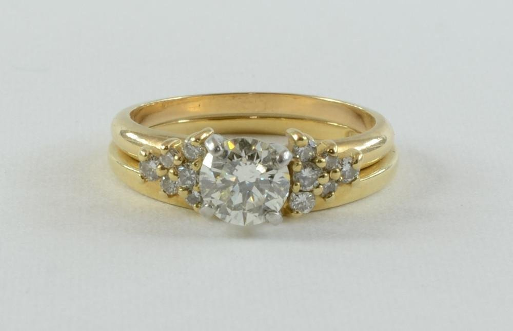 Ladies 14K Diamond Engagement ring set