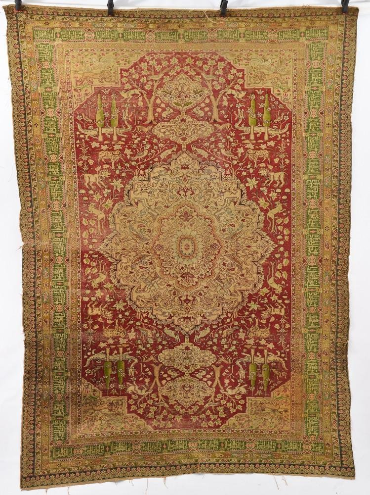 Turkish Kayseri Oriental Animal Carpet