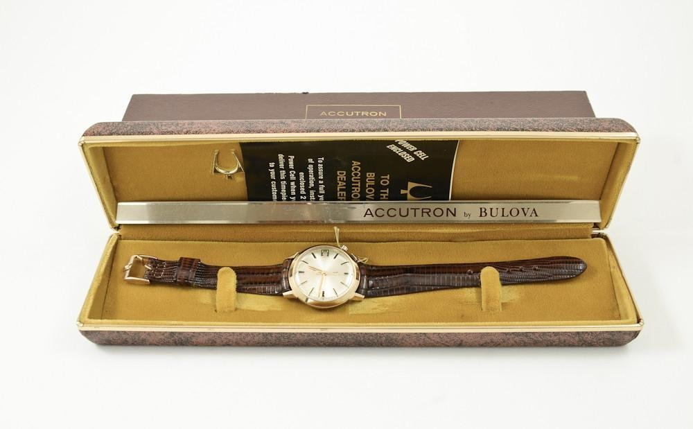 Men's Bulova Accutron 14K gold Wristwatch