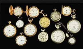 Group of 13 Antique Pocket Watches