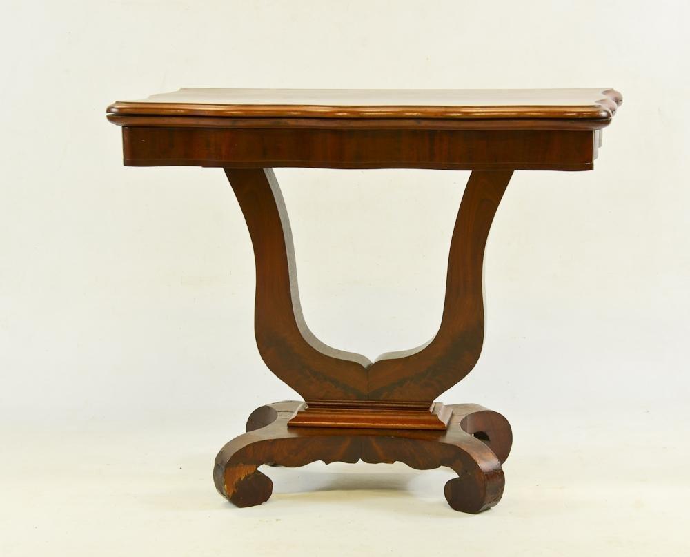19th Century Walnut & Mahogany Games Table