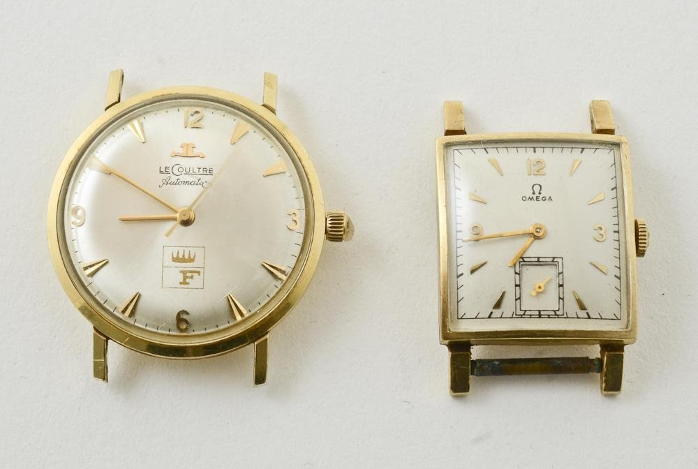 Men's LeCoultre and Omega 14K Gold Watches