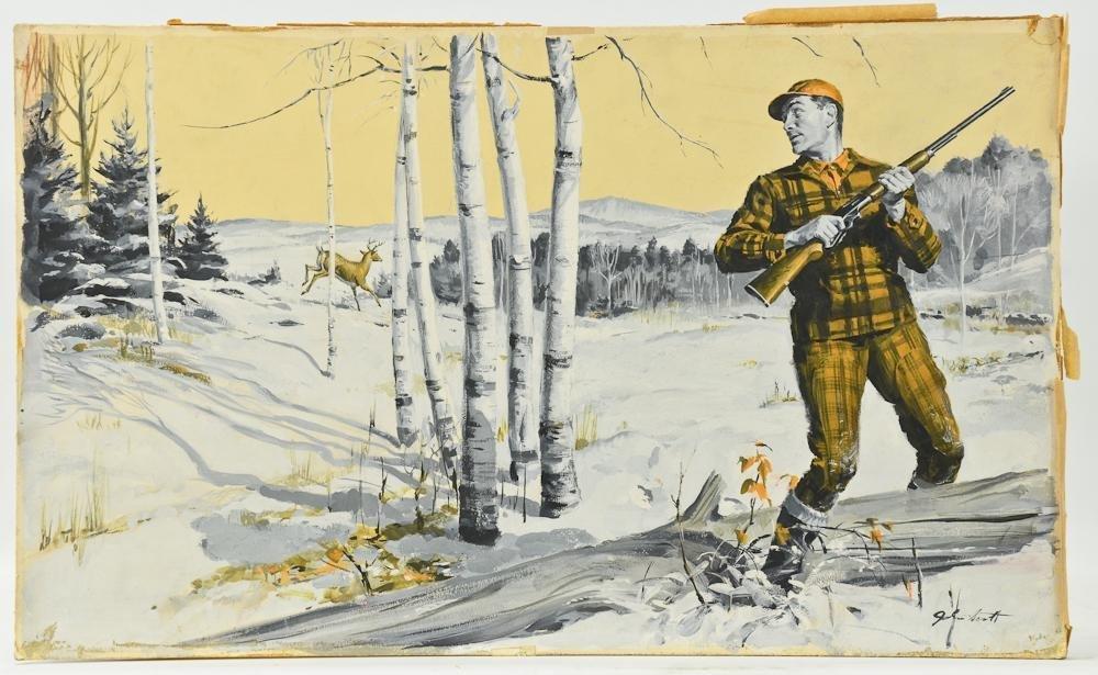 John Walter Scott Hunting Illustration