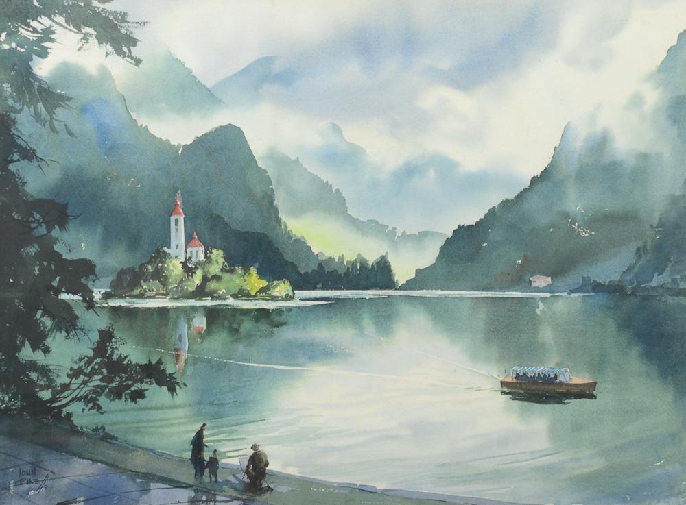 John Pike Watercolor Landscape