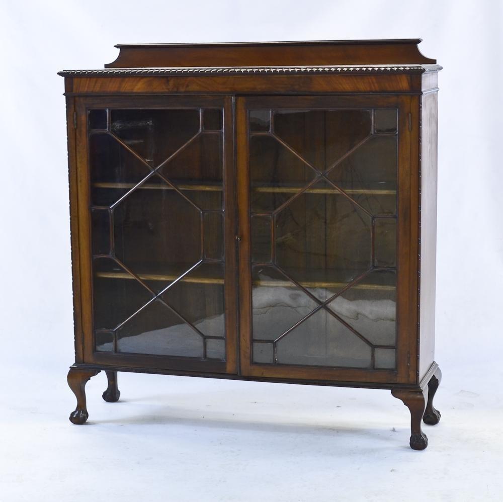 Chippendale Glass Door Bookcase