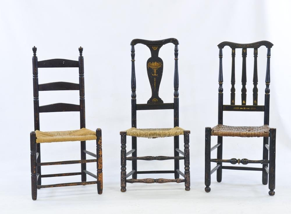 Three Antique American Chairs