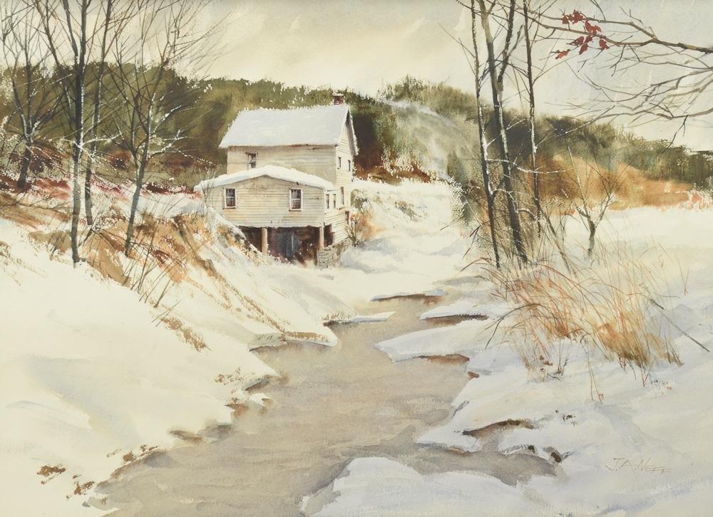 """John A. Neff Landscape """"Winter Mill"""""""