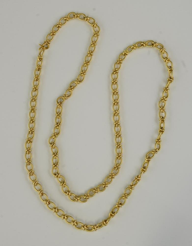 Extra Long Ladies 18K Gold Chain