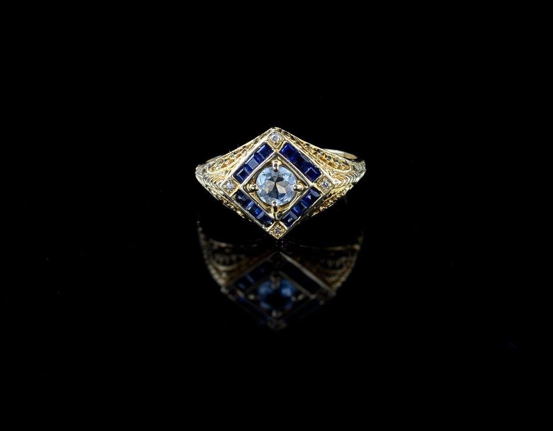 Ladies 14K Gemstone Ring