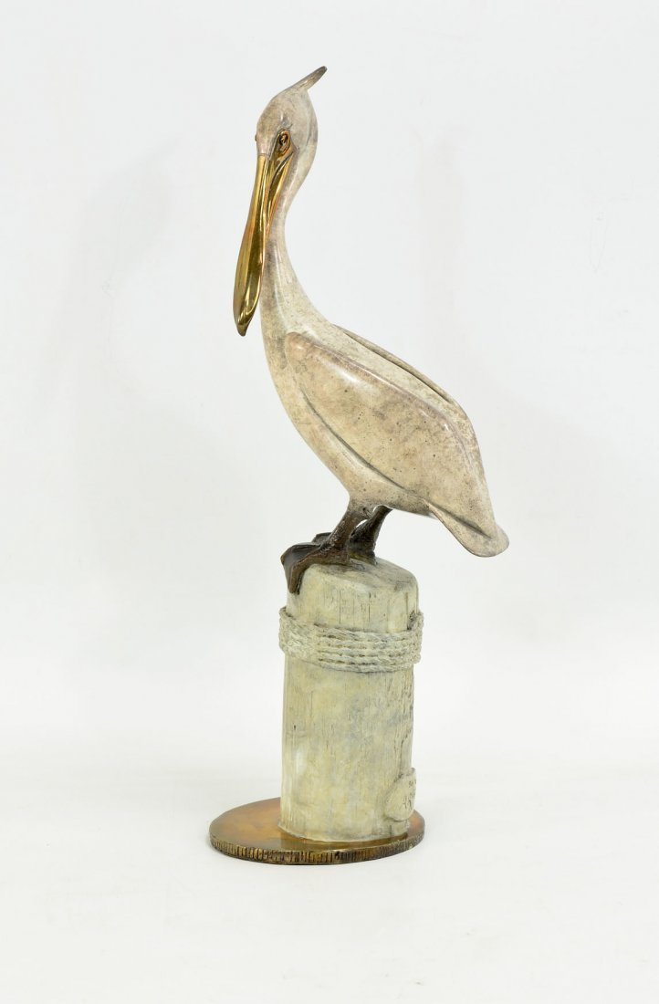 Brian Arthur Painted Bronze Pelican